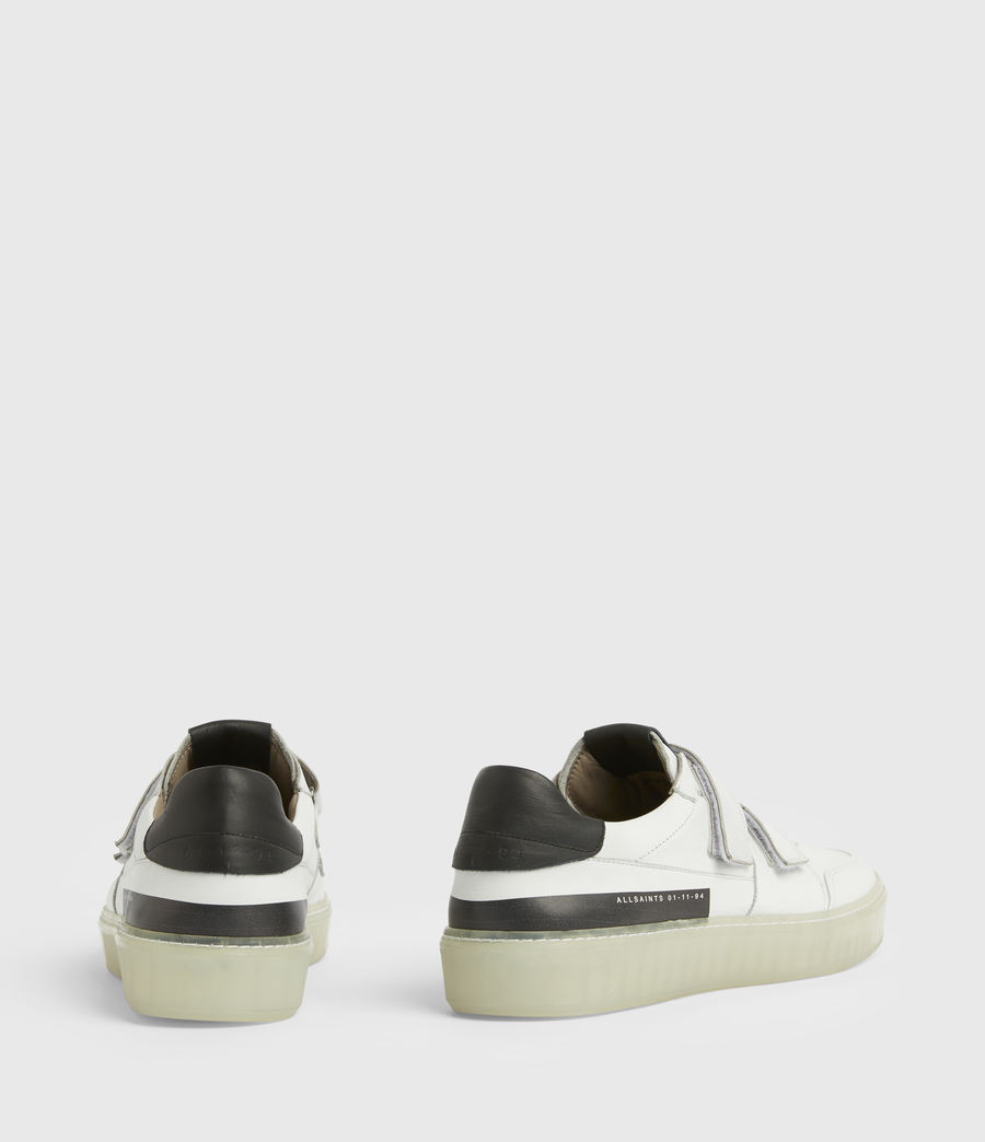 Men's Jonah Low Top Leather Trainers (chalk_white) - Image 5
