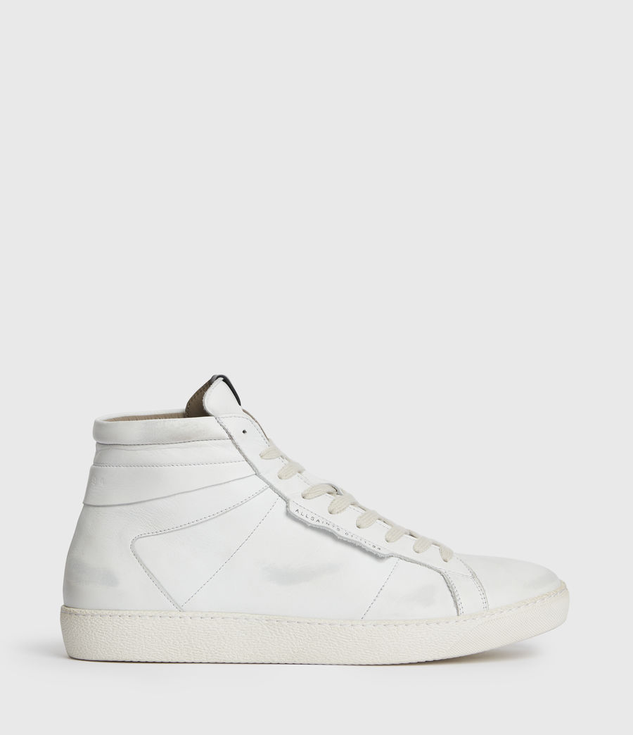 Men's Miles High Top Leather Trainers (chalk_white) - Image 1