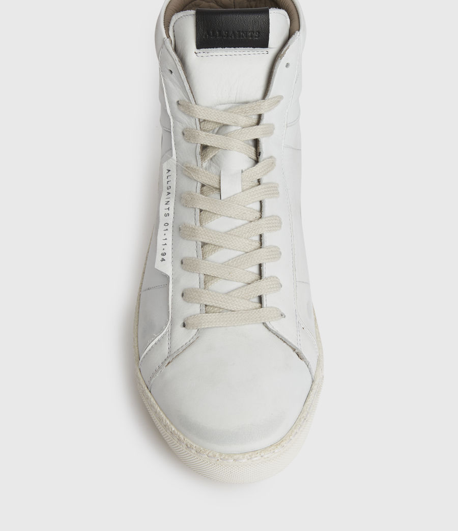 Men's Miles High Top Leather Trainers (chalk_white) - Image 2