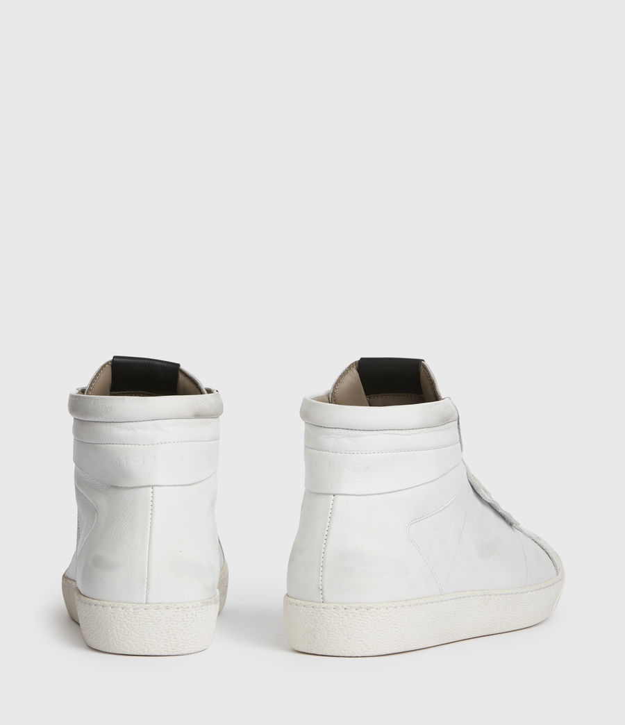Men's Miles High Top Leather Trainers (chalk_white) - Image 5
