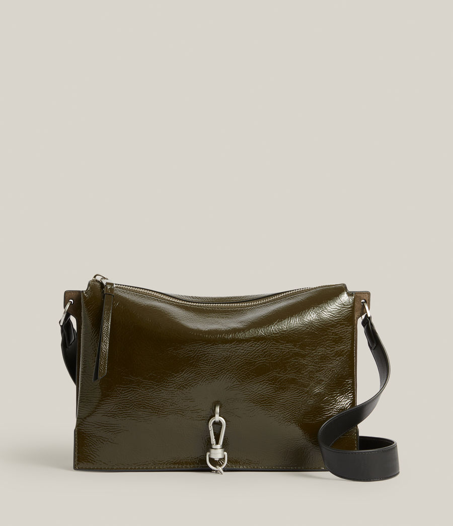 Women's Sheringham Leather Shoulder Bag (liquid_khaki) - Image 1
