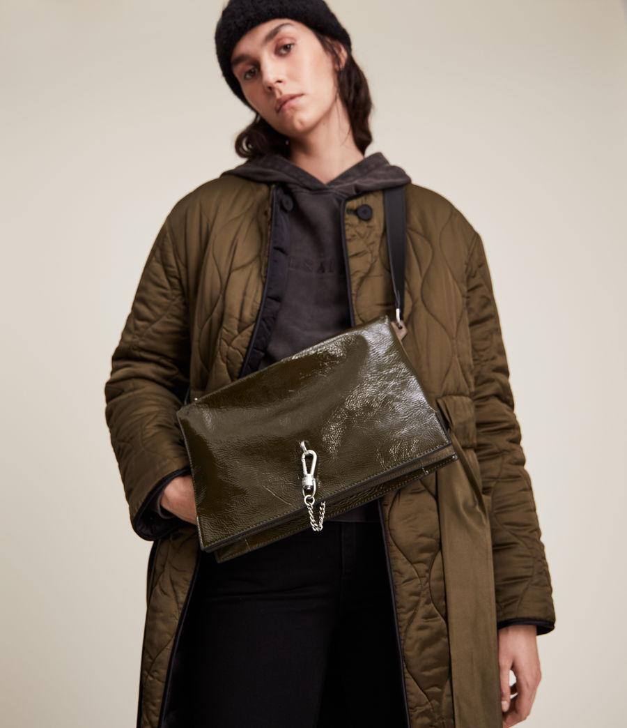 Women's Sheringham Leather Shoulder Bag (liquid_khaki) - Image 2