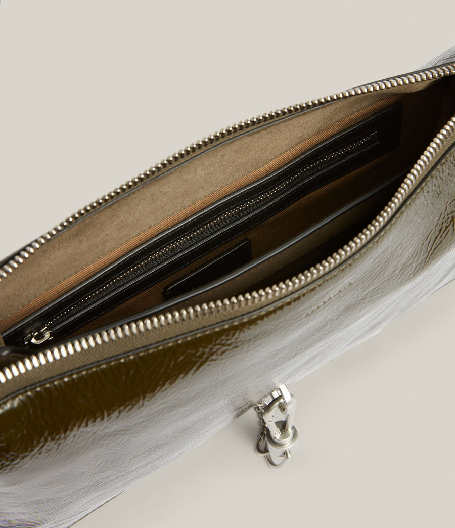 Women's Sheringham Leather Shoulder Bag (liquid_khaki) - Image 3