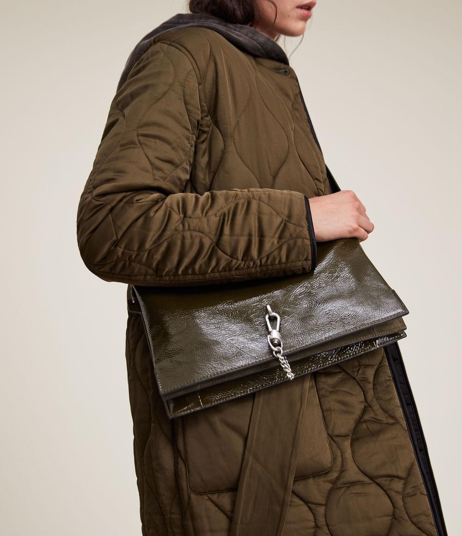 Women's Sheringham Leather Shoulder Bag (liquid_khaki) - Image 4