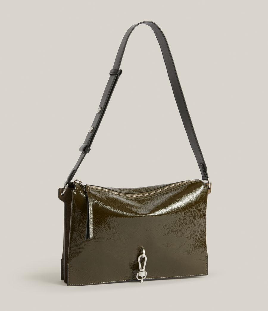 Women's Sheringham Leather Shoulder Bag (liquid_khaki) - Image 5