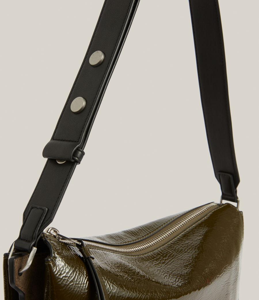 Women's Sheringham Leather Shoulder Bag (liquid_khaki) - Image 6