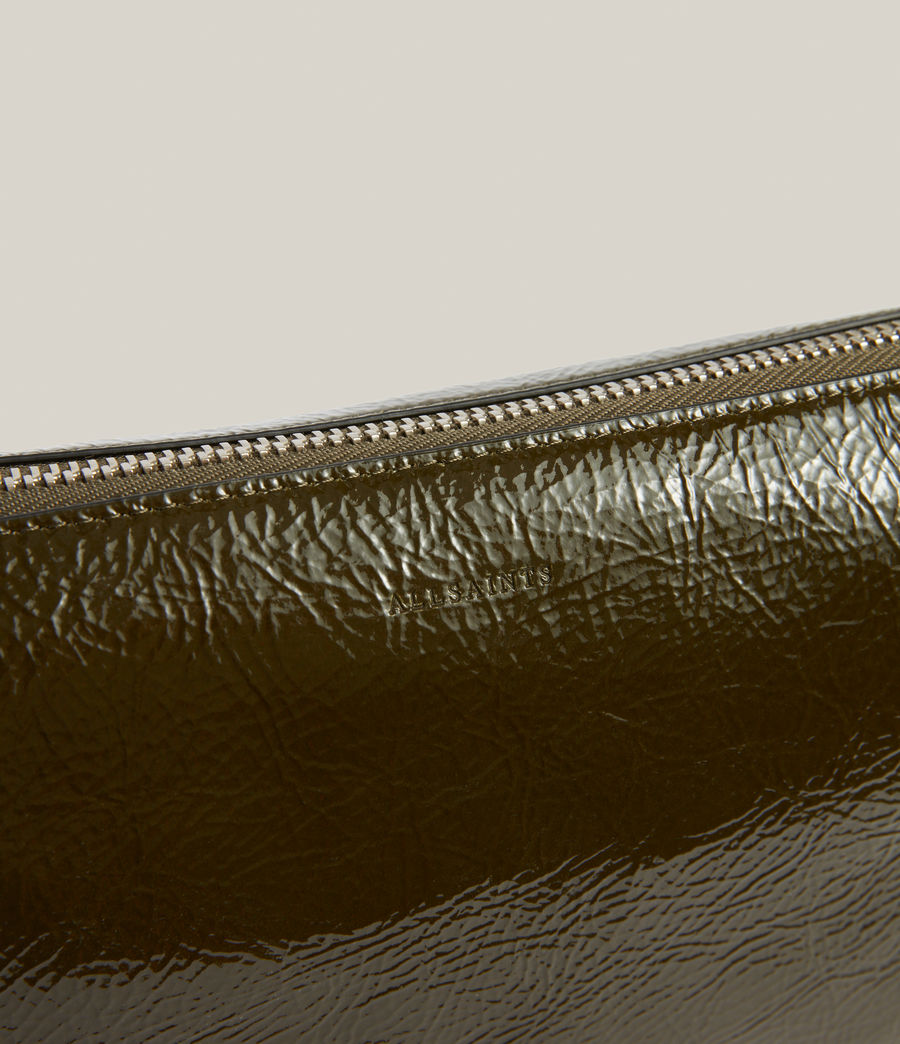 Women's Sheringham Leather Shoulder Bag (liquid_khaki) - Image 7