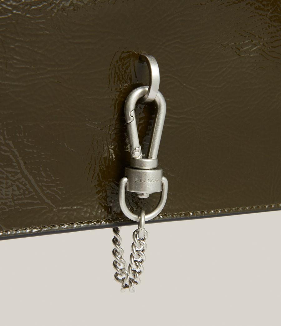 Women's Sheringham Leather Shoulder Bag (liquid_khaki) - Image 8