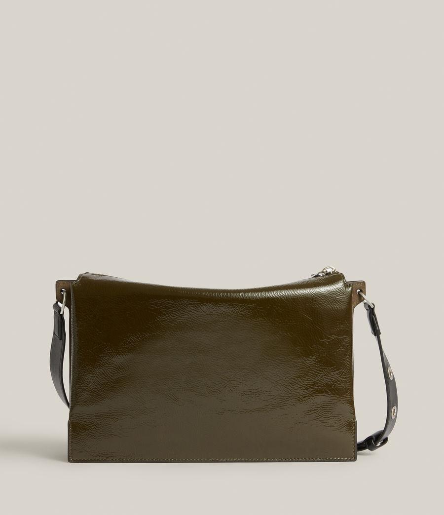 Women's Sheringham Leather Shoulder Bag (liquid_khaki) - Image 9