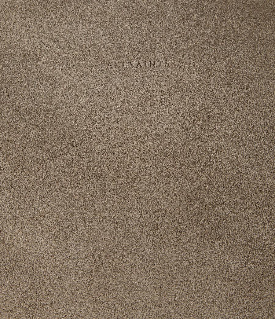 Femmes Sac hobo Kanda en cuir velours (mink_grey) - Image 3