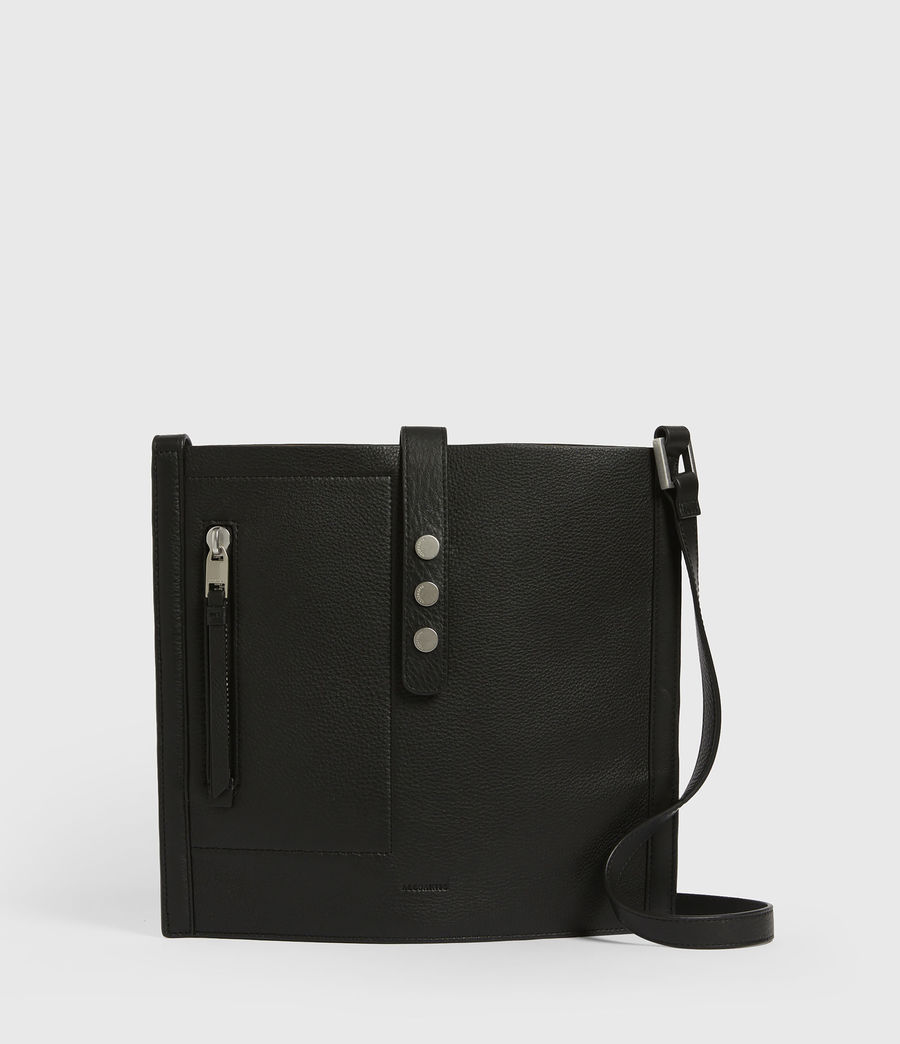 Womens Alexandia North South Leather Tote Bag (black) - Image 2