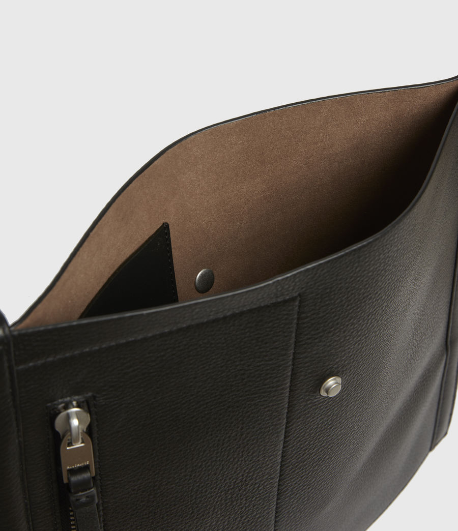Womens Alexandia North South Leather Tote Bag (black) - Image 3