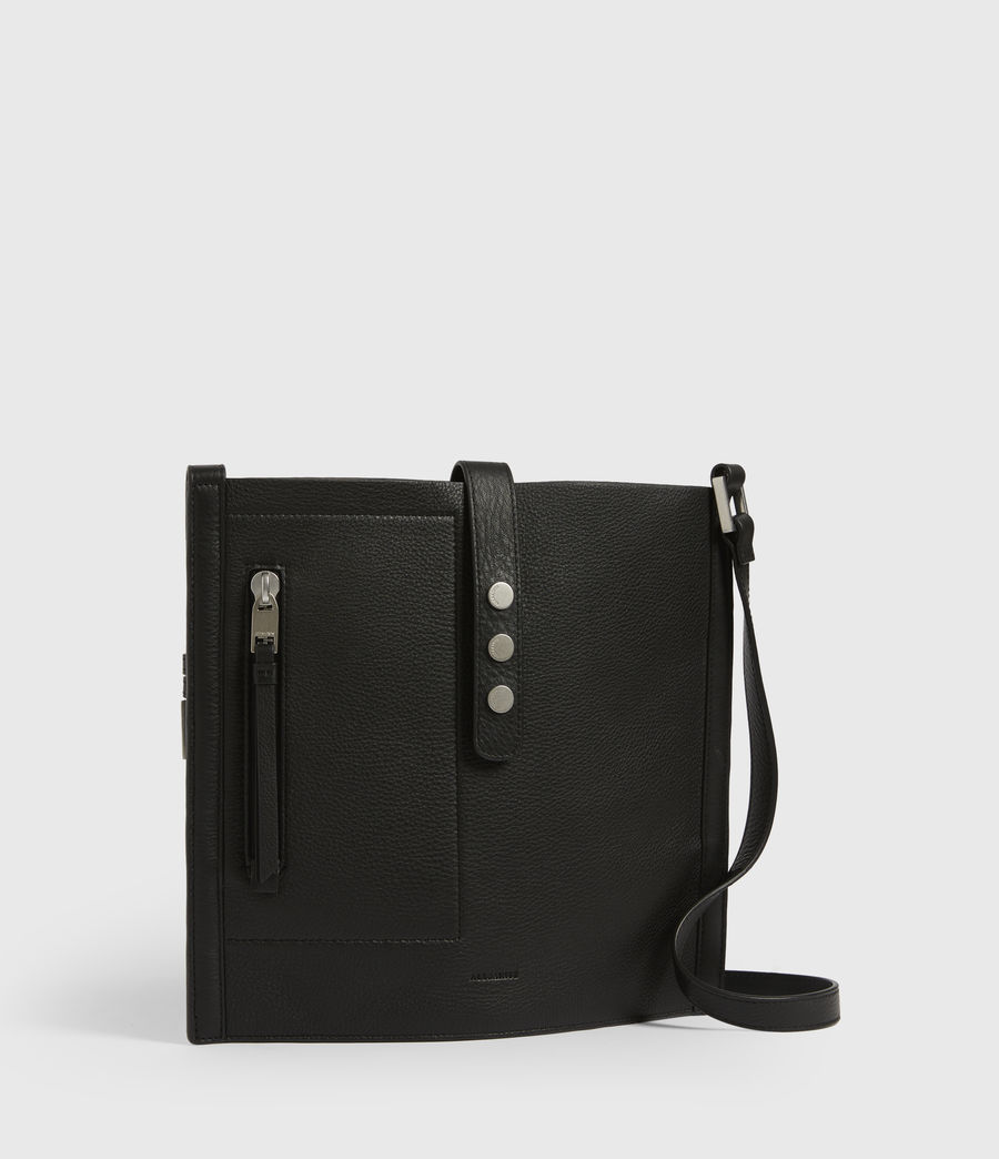 Womens Alexandia North South Leather Tote Bag (black) - Image 4