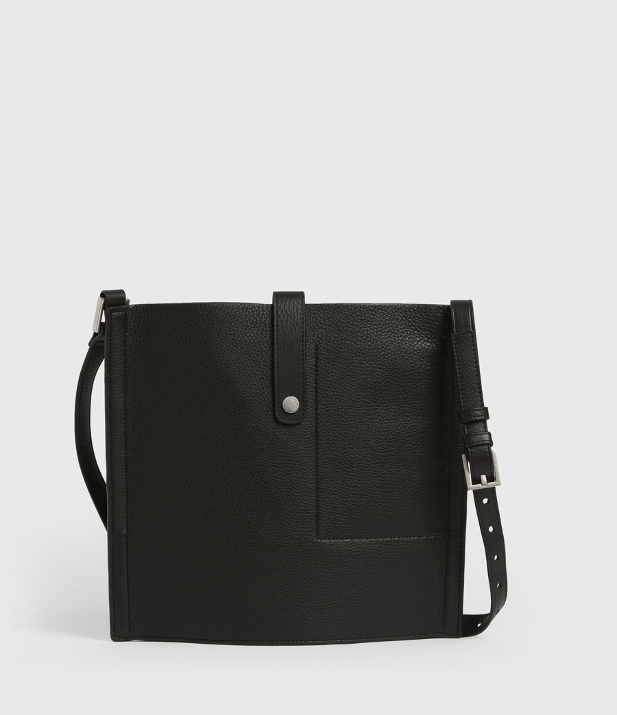 Womens Alexandia North South Leather Tote Bag (black) - Image 8