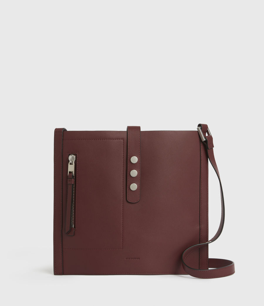 Women's Alexandia North South Leather Tote Bag (burnt_sienna_red) - Image 2
