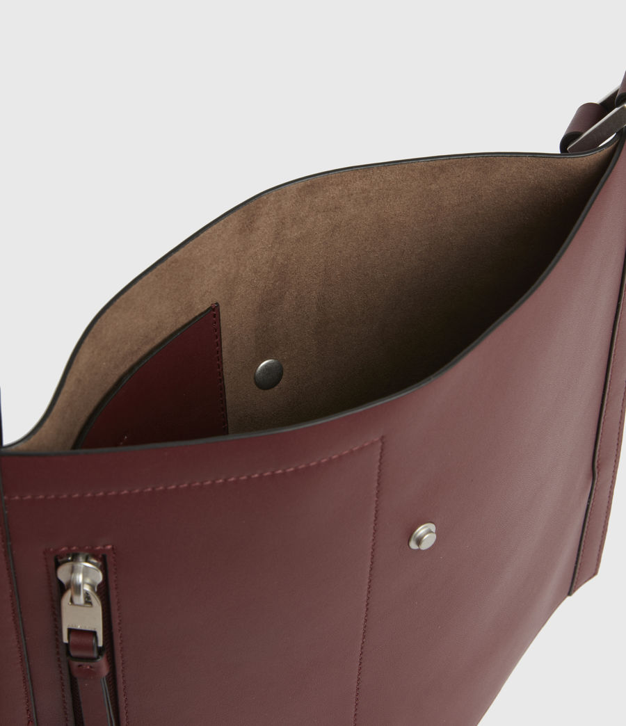 Women's Alexandia North South Leather Tote Bag (burnt_sienna_red) - Image 3