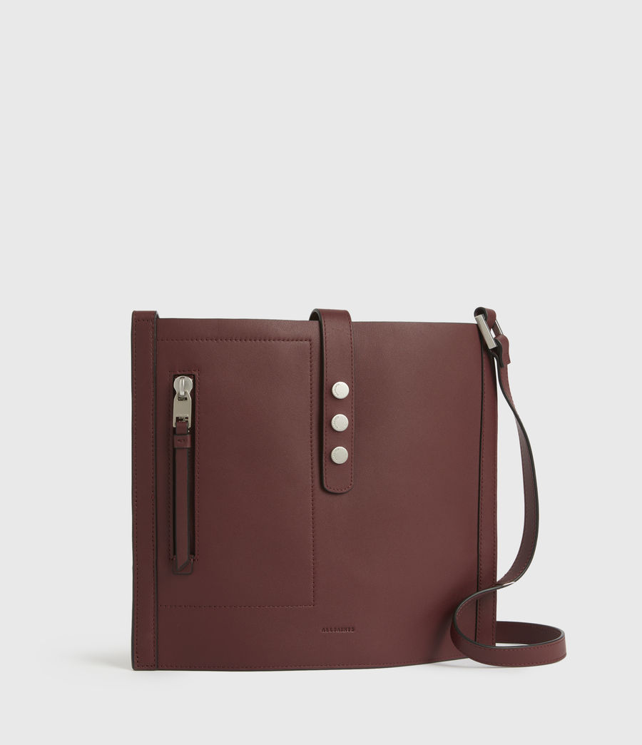 Women's Alexandia North South Leather Tote Bag (burnt_sienna_red) - Image 4