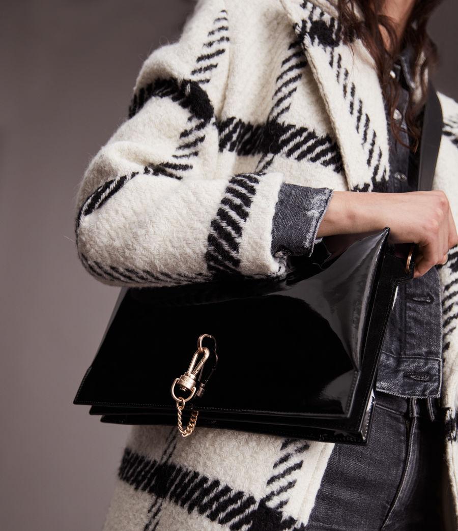 Womens Sheringham Leather Shoulder Bag (liquid_black) - Image 1