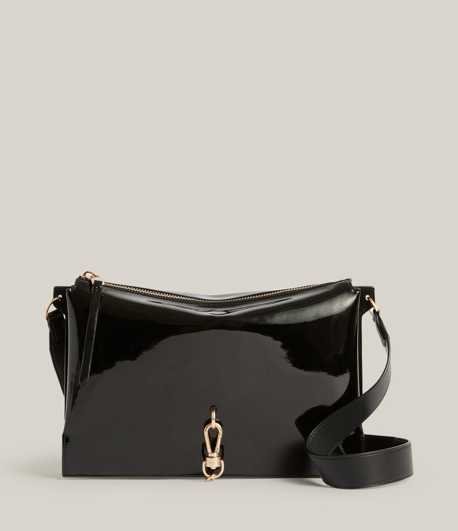 Womens Sheringham Leather Shoulder Bag (liquid_black) - Image 2