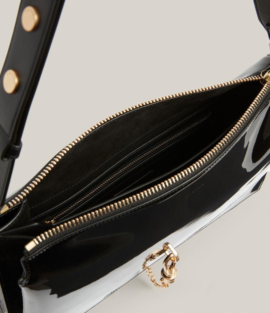 Womens Sheringham Leather Shoulder Bag (liquid_black) - Image 3