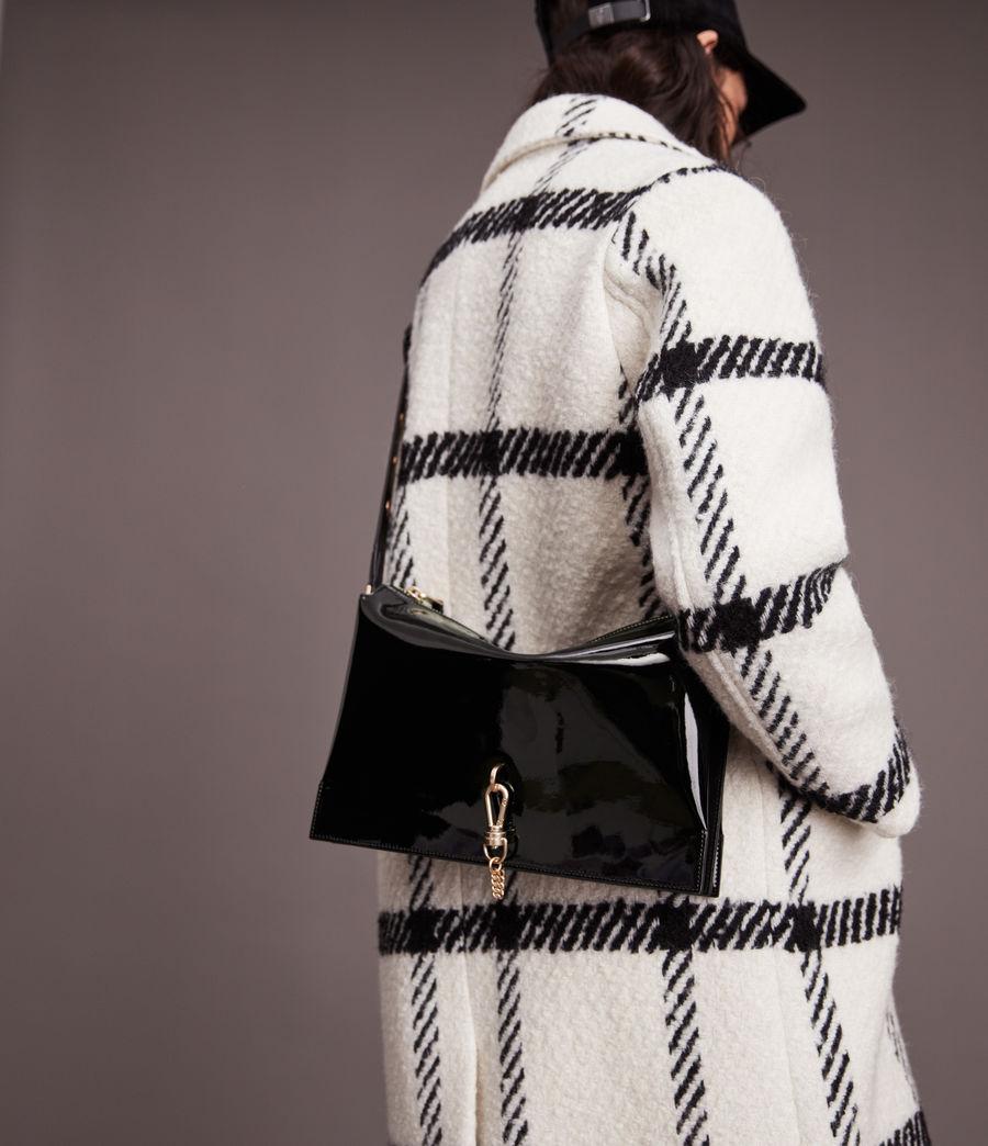 Womens Sheringham Leather Shoulder Bag (liquid_black) - Image 4