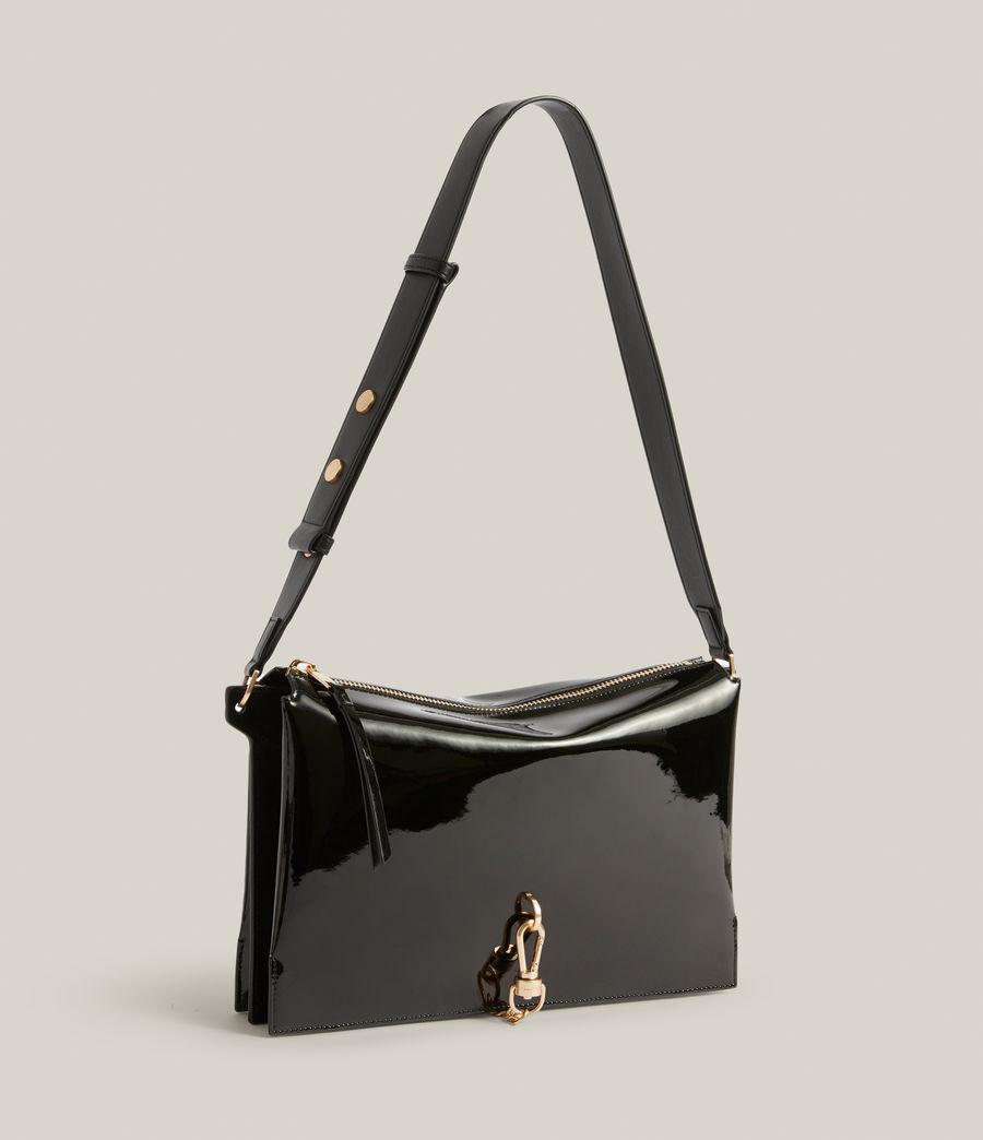 Womens Sheringham Leather Shoulder Bag (liquid_black) - Image 5