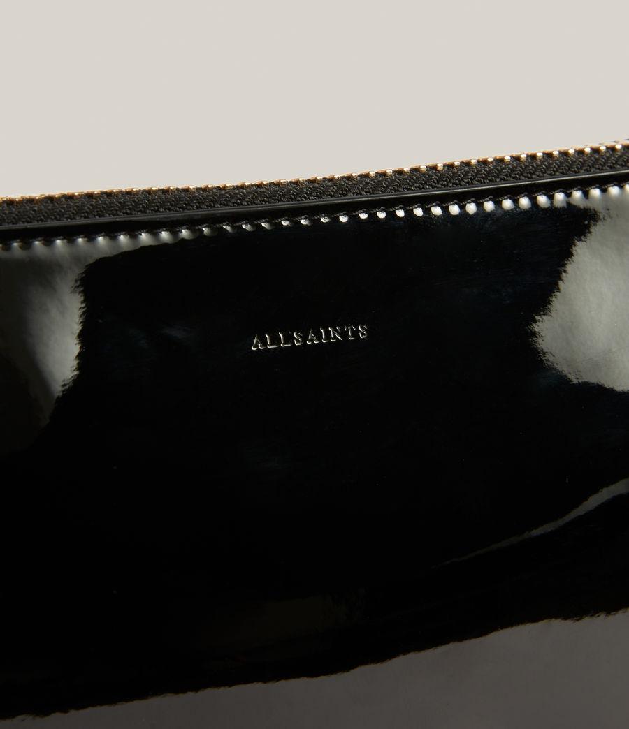 Womens Sheringham Leather Shoulder Bag (liquid_black) - Image 7