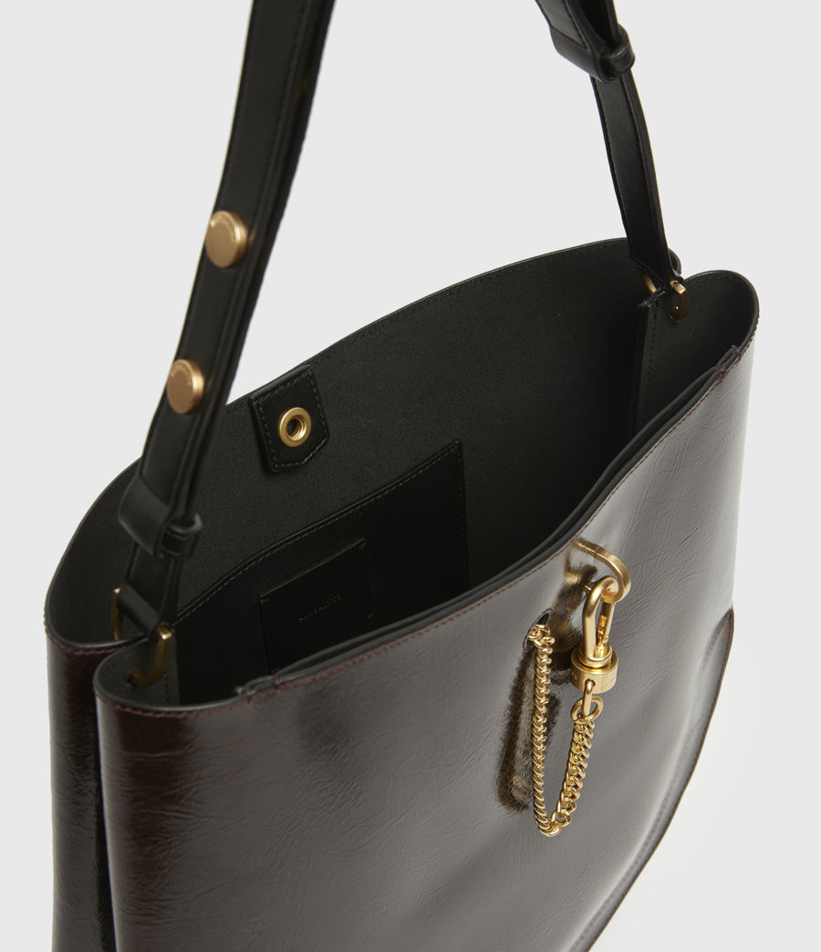 Womens Beaumont Leather Hobo Bag (oxblood_brown) - Image 3
