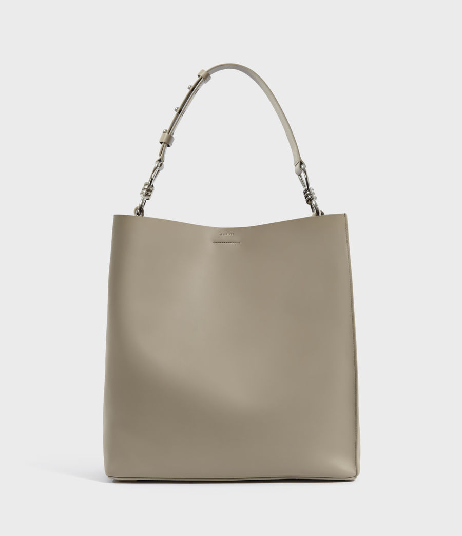 Women's Captain Leather North South Tote Bag (dune) - Image 1