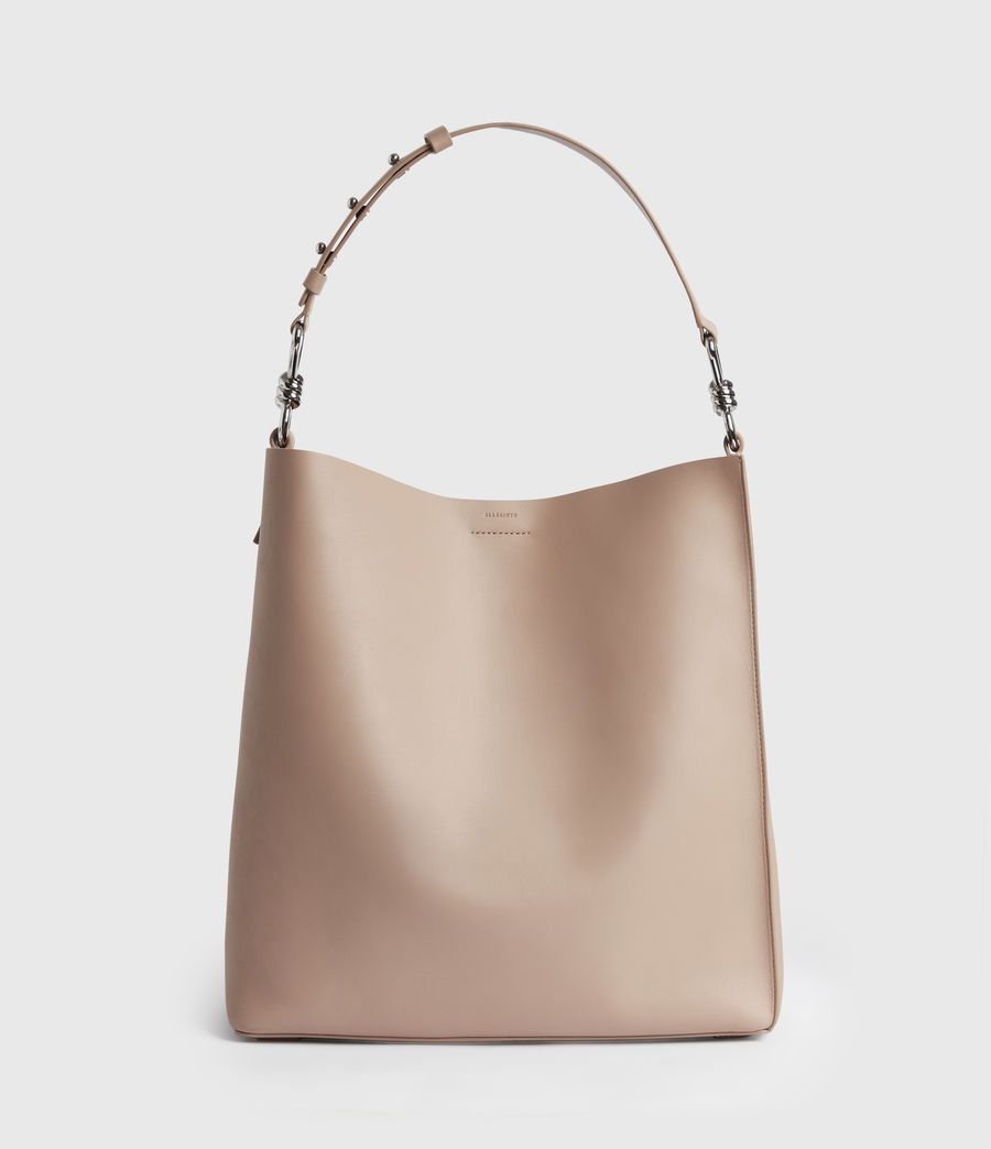 Mujer Captain Leather North South Tote Bag (nude_pink) - Image 4