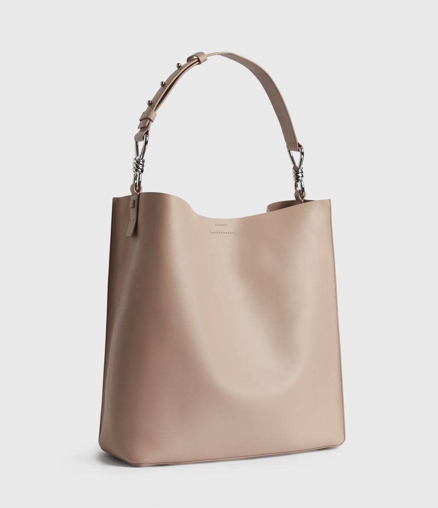 Mujer Captain Leather North South Tote Bag (nude_pink) - Image 3