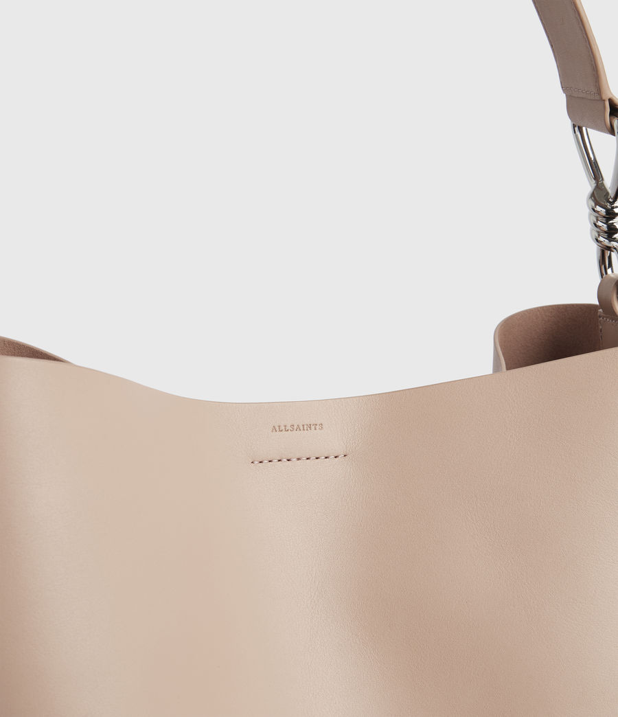 Womens Captain Leather North South Tote Bag (nude_pink) - Image 8