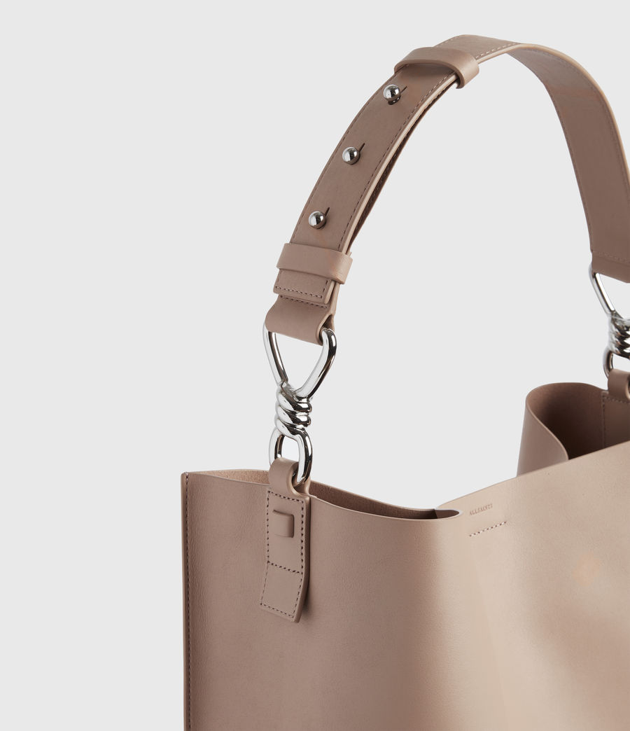 Womens Captain Leather North South Tote Bag (nude_pink) - Image 9
