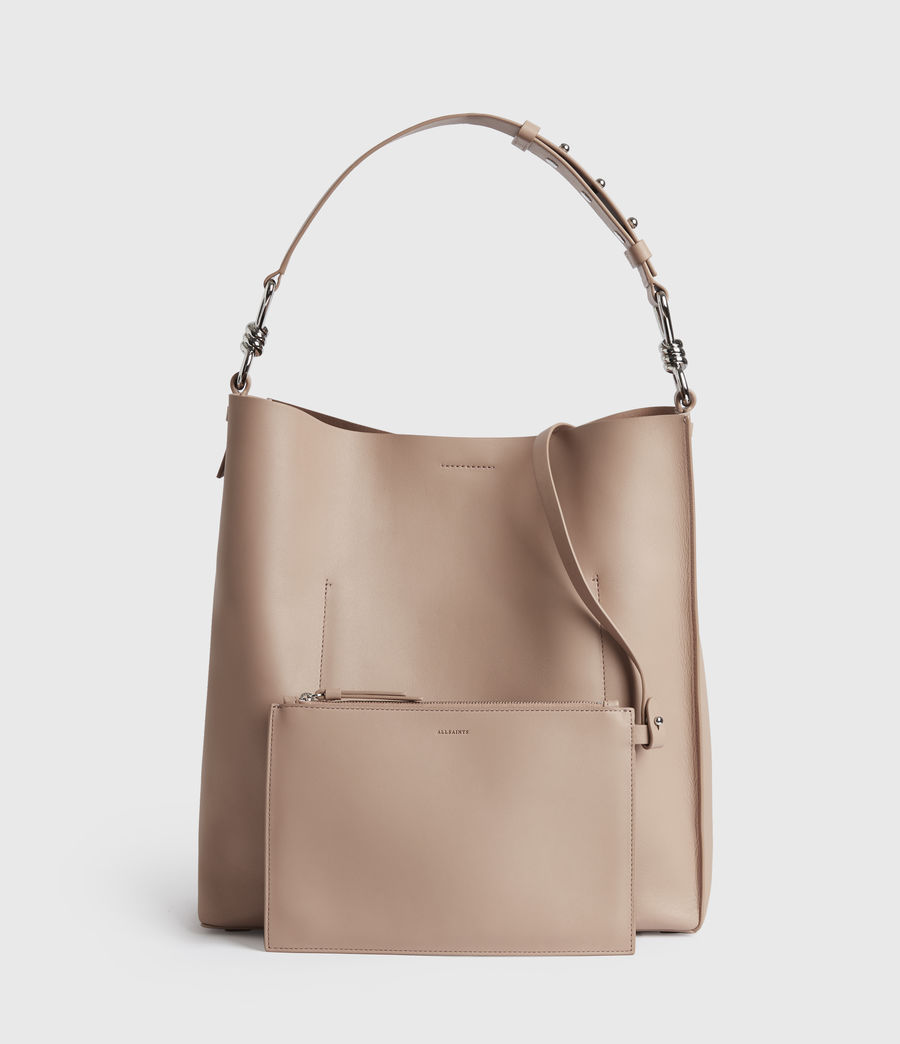 Womens Captain Leather North South Tote Bag (nude_pink) - Image 7