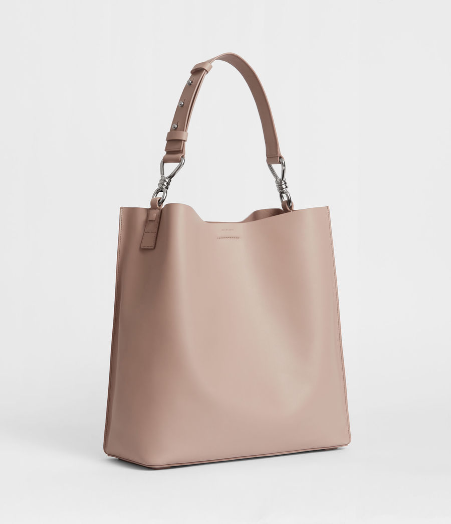 Womens Captain Leather North South Tote Bag (sand_beige) - Image 2