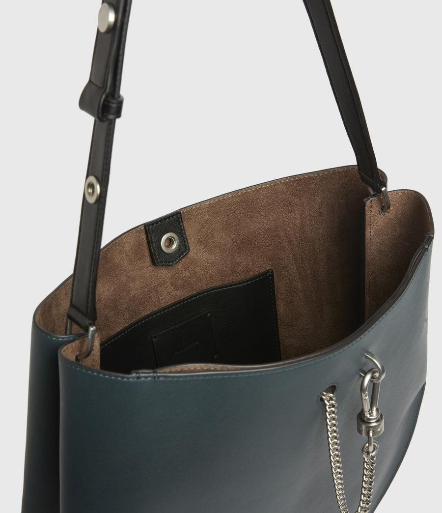 Womens Beaumont Leather Hobo Bag (dark_green) - Image 3