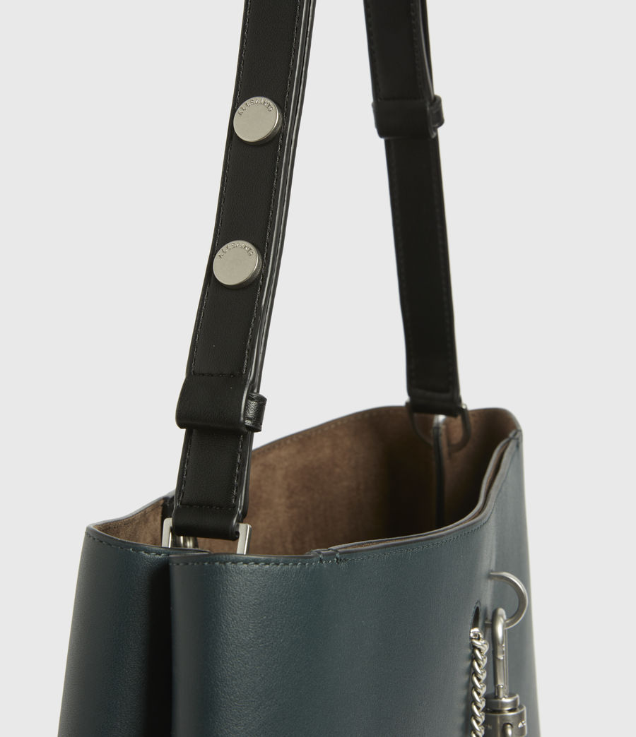 Womens Beaumont Leather Hobo Bag (dark_green) - Image 5