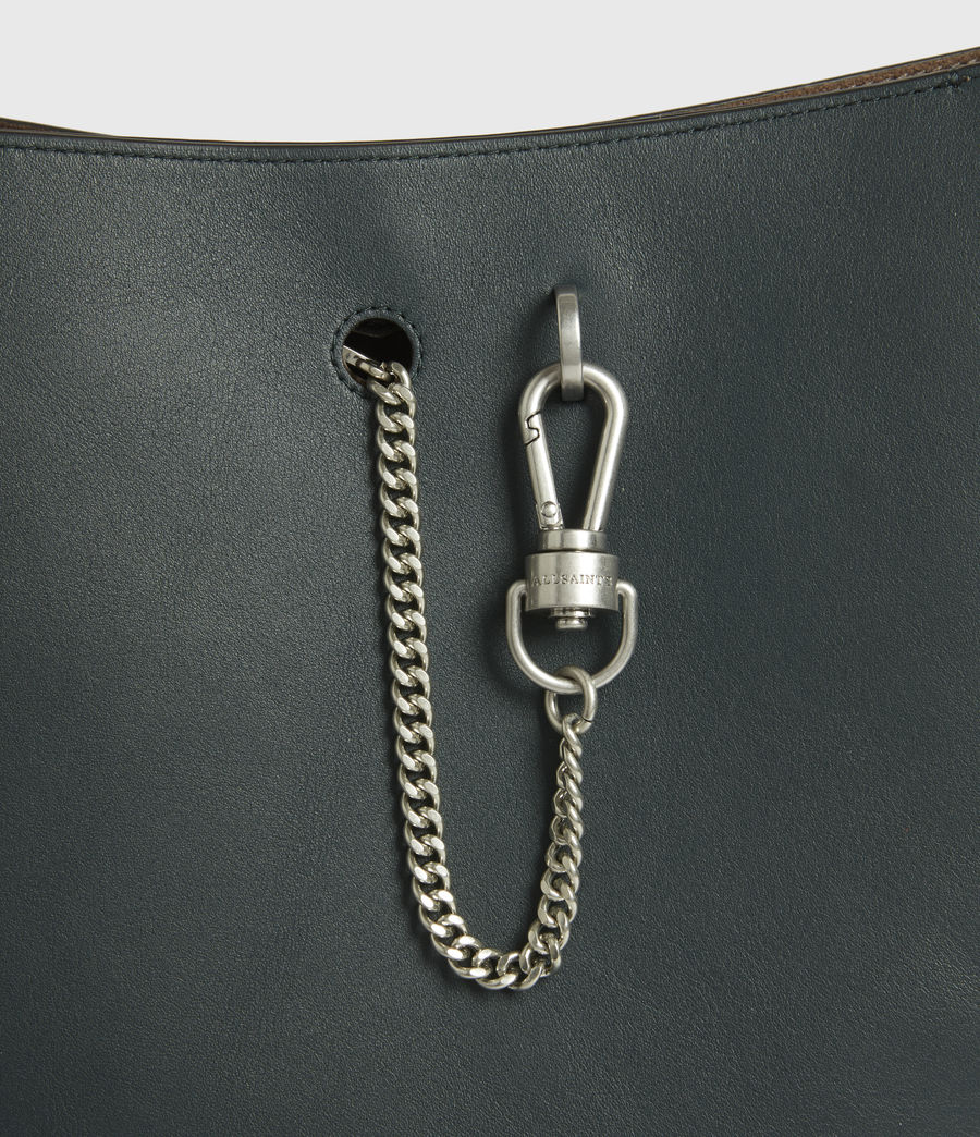Womens Beaumont Leather Hobo Bag (dark_green) - Image 6