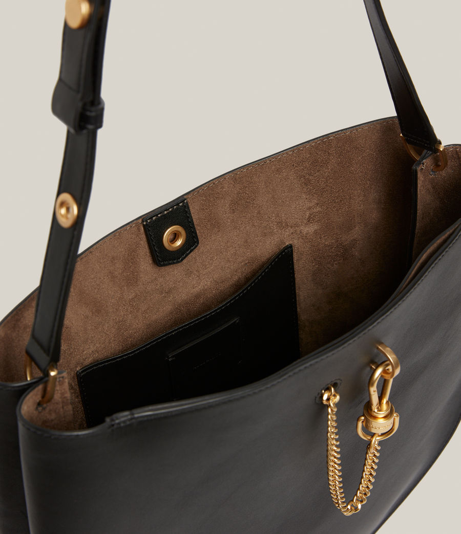Womens Beaumont Leather Hobo Bag (black) - Image 2