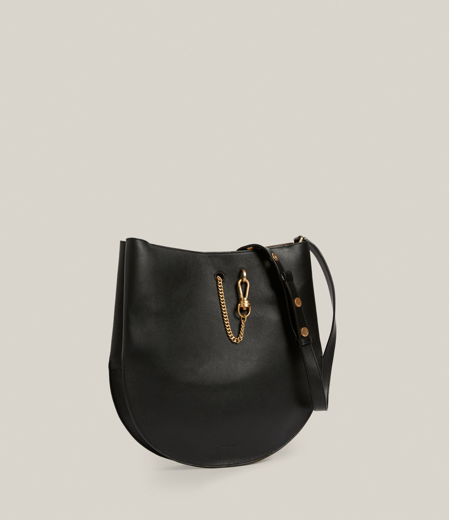 Womens Beaumont Leather Hobo Bag (black) - Image 4