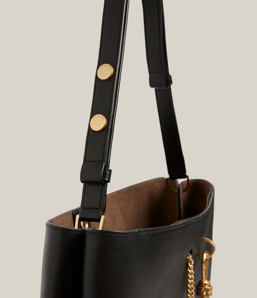 Womens Beaumont Leather Hobo Bag (black) - Image 8