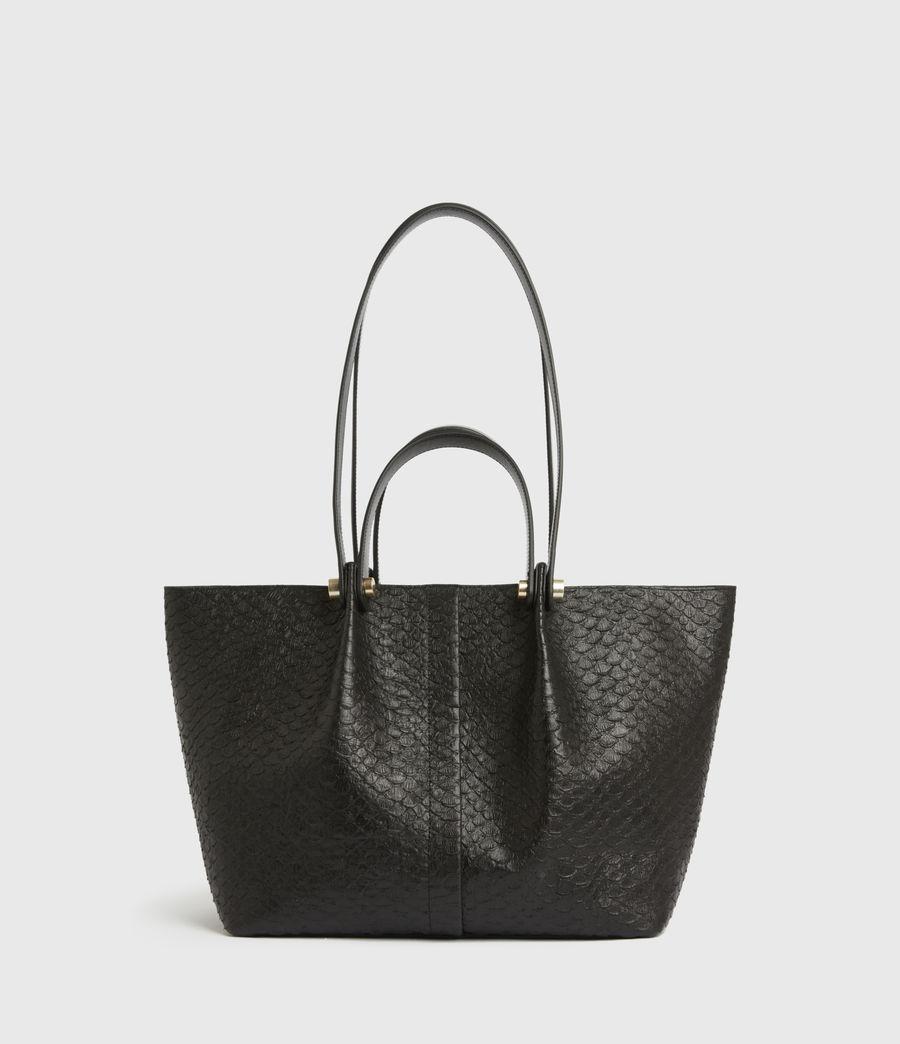 Womens Allington Small East West Leather Tote Bag (black_python) - Image 2