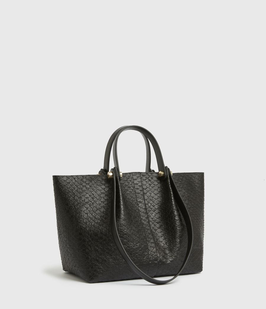 Womens Allington Small East West Leather Tote Bag (black_python) - Image 5
