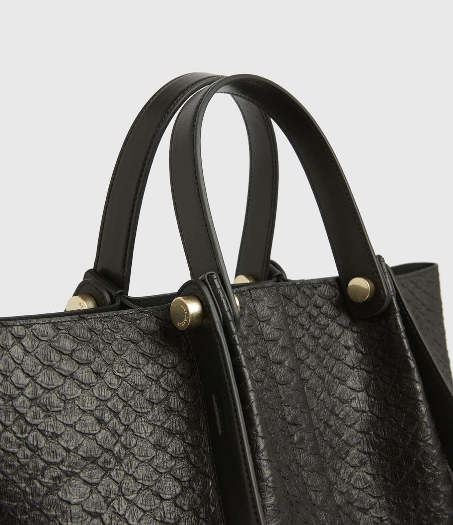 Womens Allington Small East West Leather Tote Bag (black_python) - Image 6