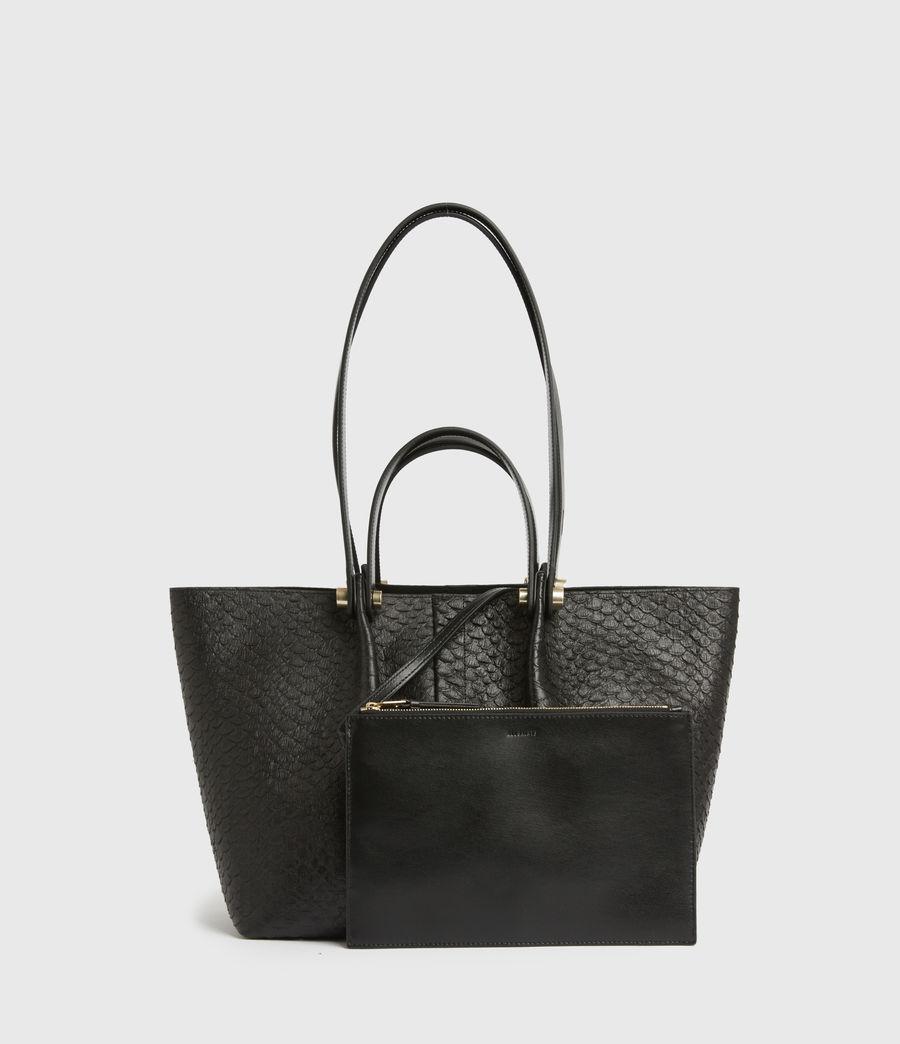 Womens Allington Small East West Leather Tote Bag (black_python) - Image 7