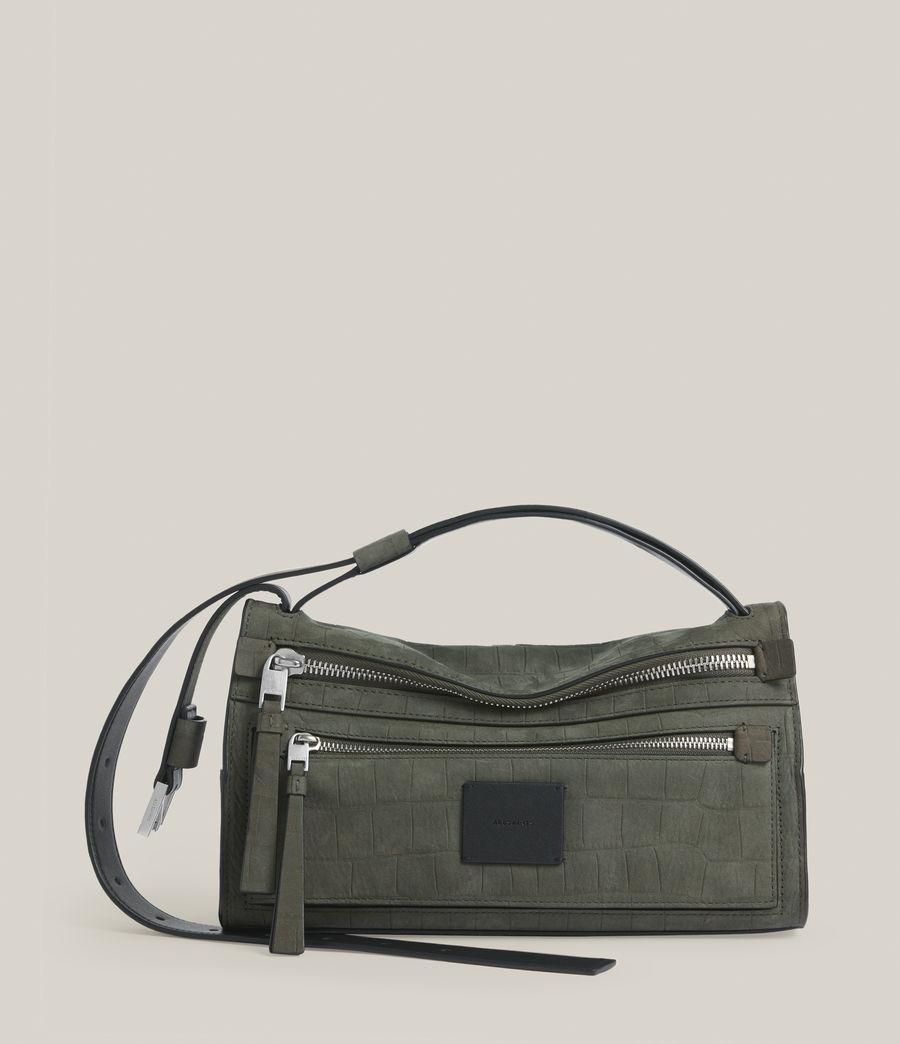 Women's Abrielle Leather Shoulder Bag (dusty_khaki) - Image 1