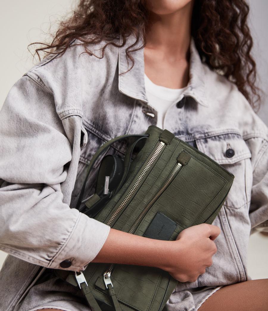 Women's Abrielle Leather Shoulder Bag (dusty_khaki) - Image 2