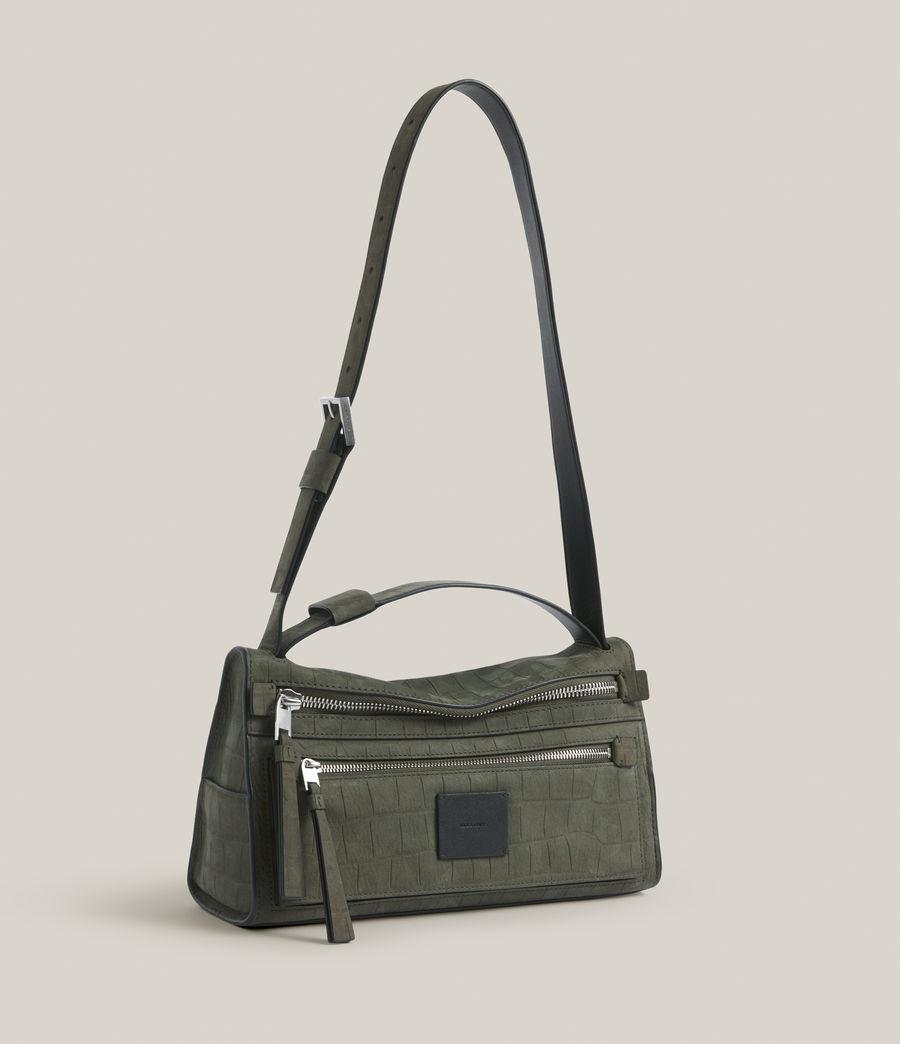 Women's Abrielle Leather Shoulder Bag (dusty_khaki) - Image 4
