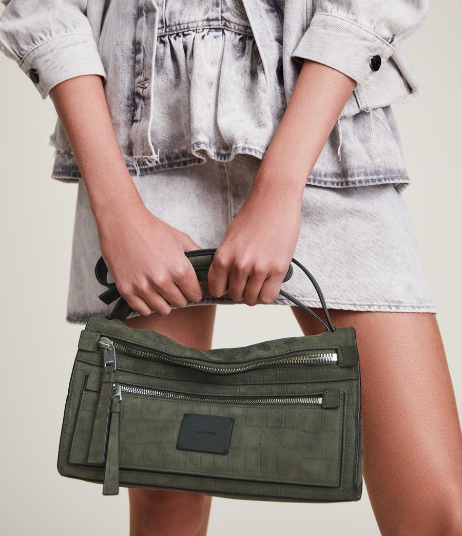 Women's Abrielle Leather Shoulder Bag (dusty_khaki) - Image 5