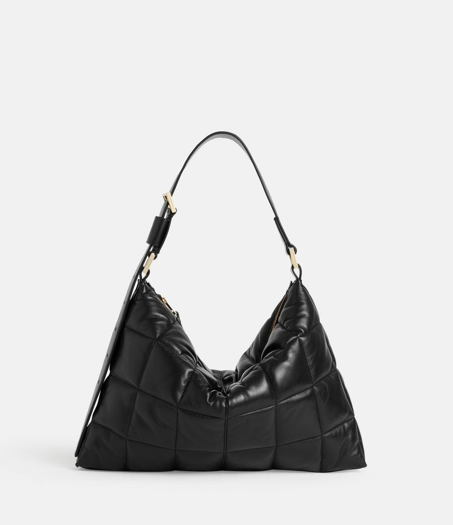 Women's Edbury Leather Quilted Shoulder Bag (black) - Image 2